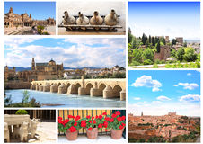 Famous places of Spain Royalty Free Stock Images