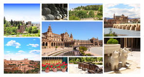 Famous places of Spain Royalty Free Stock Image