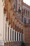 Famous Plaza de Espana - ισπανικό τετράγωνο στη Σεβίλη, Ανδαλουσία, Ισπανία ορόσημο παλαιό Στοκ φωτογραφίες με δικαίωμα ελεύθερης χρήσης