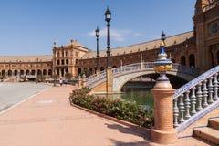 Famous Plaza de Espana στη Σεβίλη Στοκ Εικόνα