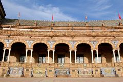 Famous Plaza de Espana Fotografie Stock Libere da Diritti