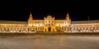 Famous Plaza de Espana, Sevilla, Spagna Fotografia Stock Libera da Diritti