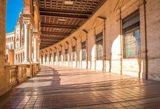 Famous Plaza de Espana, Sevilla, Spain. Stock Images