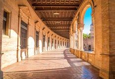 Famous Plaza de Espana, Sevilla, Spain. Royalty Free Stock Images