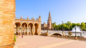 Famous Plaza de Espana, Sevilla, Spain Stock Images