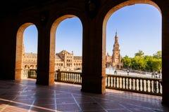 Famous Plaza de Espana, Sevilla, Spain Royalty Free Stock Photos