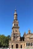 Famous Plaza de Espana - Spanish Square in Seville, Andalusia, Spain. Old landmark Royalty Free Stock Images