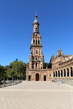 Famous Plaza de Espana - Spanish Square in Seville, Andalusia, Spain. Old landmark Royalty Free Stock Photo