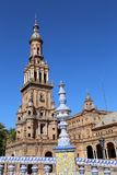 Famous Plaza de Espana - Spanish Square in Seville, Andalusia, Spain. Old landmark Stock Photo