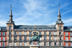 Famous Plaza Mayor Royalty Free Stock Photo