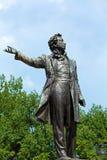 Famous Poet Alexander Pushkin Statue, Saint Petersburg Stock Images