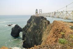 The famous Point Bonita Lighthouse. At San Francisco stock photos