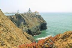 The famous Point Bonita Lighthouse. At San Francisco royalty free stock image
