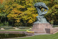 Famous Polish pianist - Frederic Chopin monument in Warsaw Royalty Free Stock Images