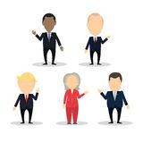 Famous politician set. October. 10, 2016. Famous politician set. Isolated cartoon character on white background. American and russian. Barack Obama and Vladimir vector illustration