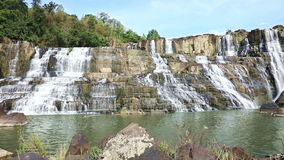 Famous Pongour Waterfall stock footage