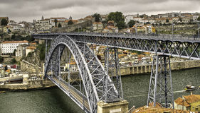 The Famous Ponte Luis 1 In Porto Stock Image