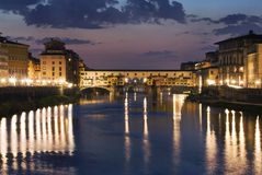 Famous Ponte Vecchio in Florence royalty free stock photography