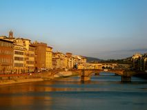 The famous ponte vecchio royalty free stock photo