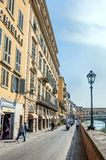 Famous Ponte Vecchio and skyline in Florence, Tuscany Royalty Free Stock Image