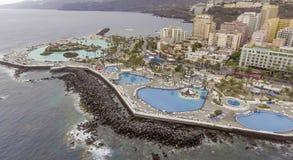 Famous pools in Puerto de la Cruz, Tenerife Stock Photo