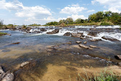 Famous Popa falls in Caprivi, North Namibia Royalty Free Stock Photo