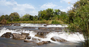 Famous Popa falls in Caprivi, North Namibia Stock Photography