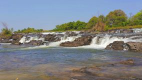 Famous Popa falls in Caprivi, North Namibia stock footage