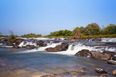 Famous Popa falls in Caprivi, North Namibia Stock Photos