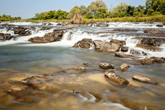 Famous Popa falls in Caprivi, North Namibia Royalty Free Stock Image