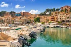 Beautiful Port de Soller in Mallorca. royalty free stock photos