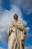 Famous Portas do Sol Belvedere with St. Vicente Statue Royalty Free Stock Photos