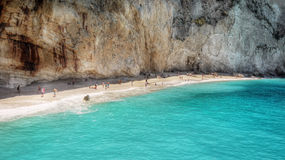Famous Porto Katsiki beach, Lefkada, Greece Royalty Free Stock Images