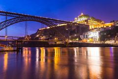 Amazing morning in old town Porto Portugal Royalty Free Stock Photos