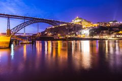 Amazing morning in old town Porto Portugal Royalty Free Stock Image