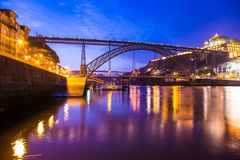 Amazing morning in old town Porto Portugal Stock Photo