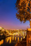 Amazing sunset in old town Porto Portugal Royalty Free Stock Photo