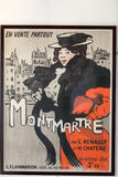 The famous poster of Le Chat Noir. The black cat, and other pictures in Montmartre, Paris on  Le Chat Noir was a 19th century cabaret club in Montmartre Royalty Free Stock Photography
