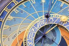 Famous Prague astronomical Clock Stock Image