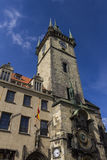 The famous Prague Astronomical clock tower Stock Photo