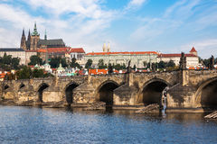 The Famous Prague Castle in a sunny day. Royalty Free Stock Image