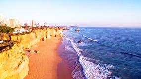 Famous Praia da Rocha in Portimao Portugal Stock Photography