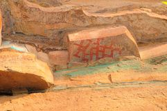 Famous prehistoric rock painting Royalty Free Stock Images