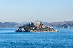 Prison island of Alcatraz in San Francisco, California stock photo