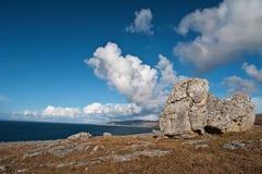 Famous protected burren park landscape Stock Images