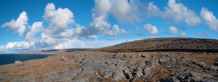 Famous protected burren park landscape Stock Photos