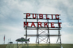 Famous Public Market sign in Seattle, Washington Stock Photography
