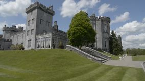 Famous Public Tourist Attraction In Ireland. Castle , Dromoland County Clare, Ireland -Flat video profile. stock footage