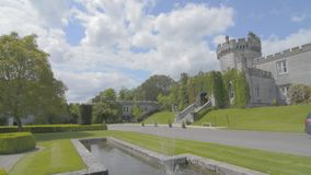 Famous Public Tourist Attraction In Ireland. Castle , Dromoland County Clare, Ireland -Flat video profile. stock video