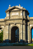 The famous Puerta de Alcala at Independence Square - Madrid Spai Royalty Free Stock Photography